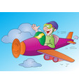 man flying an airplane vector image