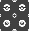 pokeball icon sign Seamless pattern on a gray vector image