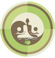 Yoga and zen background vector image
