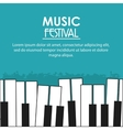 piano music sound media festival icon vector image