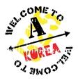 Korea stamp rubber grunge vector image