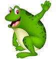 cute frog cartoon smiling vector image