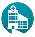 Hospital sign vector image
