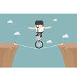 Business balancing on the rope vector image