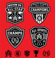 Athletic patch emblems vector image