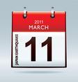 calendar icon japan earthquake vector image