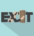 Exit Typography Design vector image
