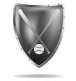 baseball shield vector image vector image