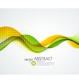 Abstract smooth wave motion vector image