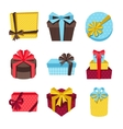 Celebration icon set of colorful gift boxes vector image