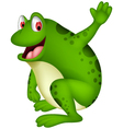 cute frog cartoon smiling vector image