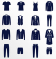 Different types of men clothes vector image