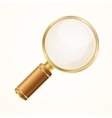 Gold Magnifying Glass vector image