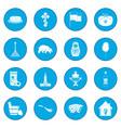 russia black icon blue vector image