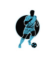 soccer player running with the ball vector image