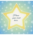 Background with stitched stars vector image vector image