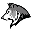 wolf mascot vector image