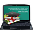 stack of books in notebook vector image vector image