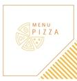 Design menu Pizza vector image