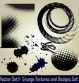 grunge set vector image