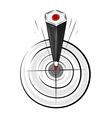 target pencil vector image vector image