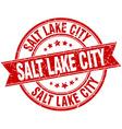 Salt Lake City red round grunge vintage ribbon vector image