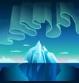 aurora borealis and iceberg vector image