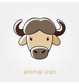 Buffalo bison ox flat icon Animal head vector image