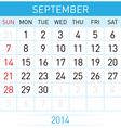 Calendar Month vector image