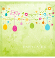 Colorful Happy Easter design vector image