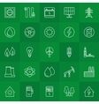 Energy and power linear icons vector image