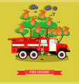 fire engine in flat style vector image