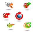Icons Set for Web Applications Internet Website vector image