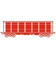 Open Railway freight car - vector image