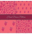 Pink Strawberry Pattern Set vector image