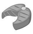 salmon steak icon monochrome vector image