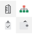 Set of simple business icons elements done purse vector image