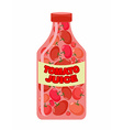 Tomato juice Juice from fresh vegetables Tomatoes vector image
