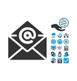 Email Flat Icon With Bonus vector image