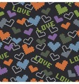 pattern with colored hearts vector image