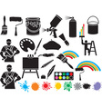 Painting Accessories Icon vector image