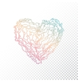 Ombre print heart vector image