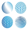 Collection of abstract globe icons vector image