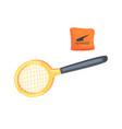 tennis racket sport equipment cartoon vector image