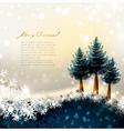 fir-trees vector image