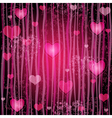 Grungy pink valentine pattern vector image