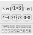 Analog black scoreboard digital week timer vector image vector image