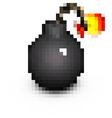 stylized pirate cartoon pixel bomb vector image