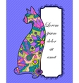 Background with colorful cat vector image