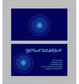Set of business cards with dark-blue background vector image